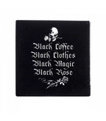 Black Coffee, Black Clothes Coaster - Goth Mall