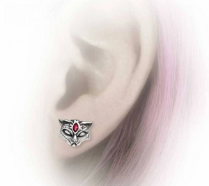 Sacred Cat Ear Studs - Goth Mall