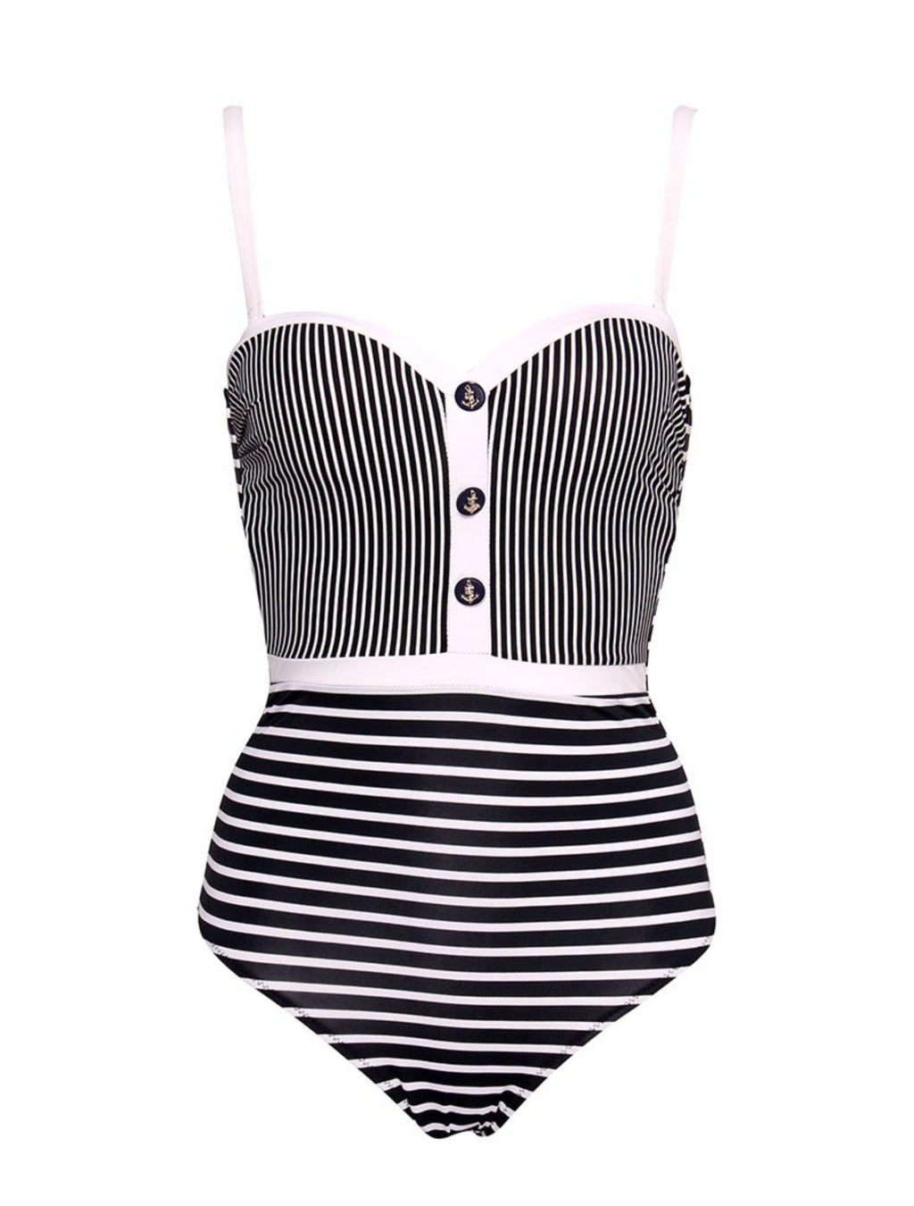 Sailor Girl Pin-Up Swimsuit - Goth Mall