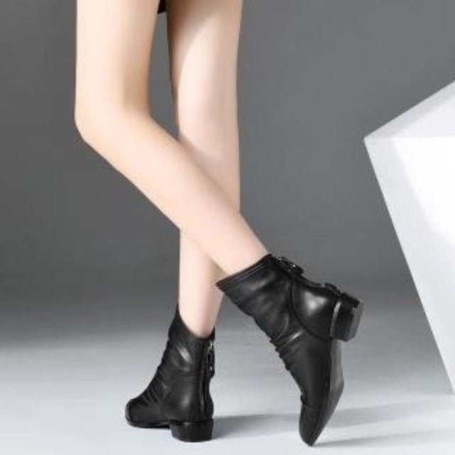 Pixie Ankle Boots - Goth Mall