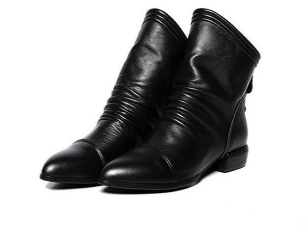 Vegan Pixie Ankle Boots - Goth Mall