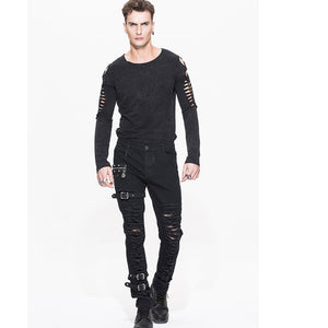 Distressor Cargo Pants - Goth Mall