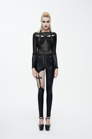 The Goth Cross Skinny Pants