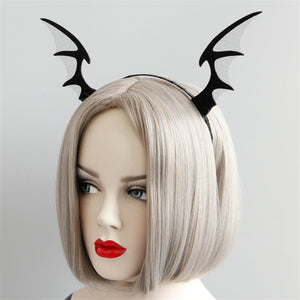 Batwing Horns Headband - Goth Mall