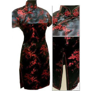 Cheongsam Mini Dress - Goth Mall