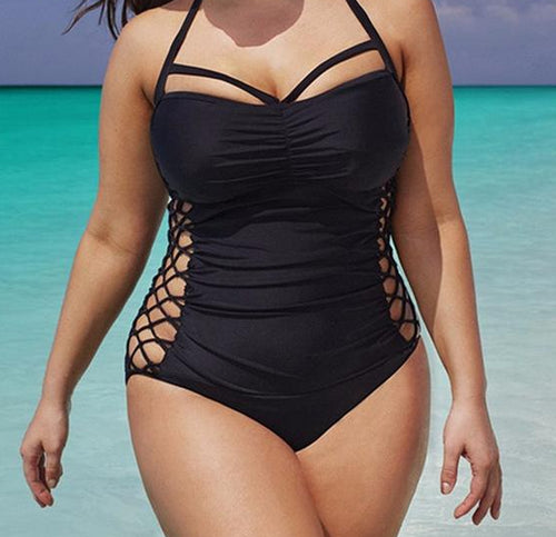 3694649f6c Cage Bra Swimsuit - Plus Size - Goth Mall
