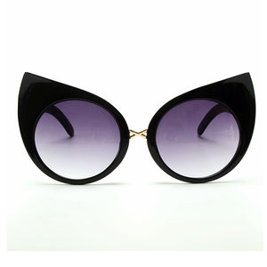 Deluxe Cat Eye Sunglasses - Goth Mall