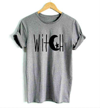 Witch Crescent Moon and Star Tee-Shirt - Goth Mall