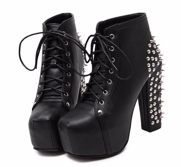 The Super Spiked Platform Heels - Goth Mall