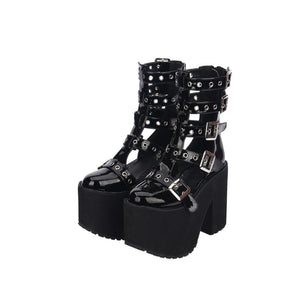 Gladiator  Buckled Sandals - Goth Mall