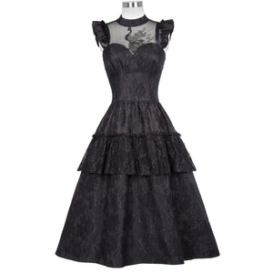 The Victoria Peacock Dress - Goth Mall