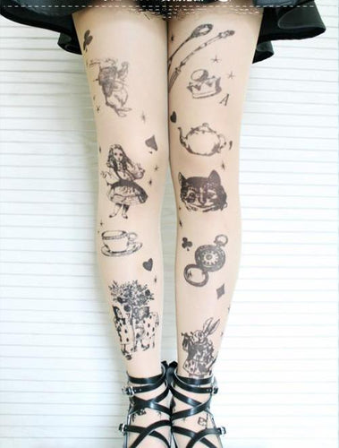 Alice In Wonderland Tights - Goth Mall