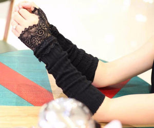 The Madonna Fingerless Gloves - Goth Mall