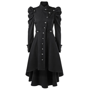 Militant Vampire Trench Coat - Goth Mall