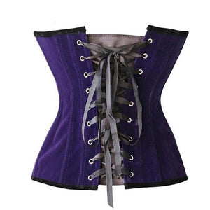 Full Frontal Zipper Corset - Goth Mall
