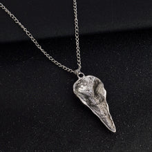 Raven Skull Pendant Necklace - Goth Mall
