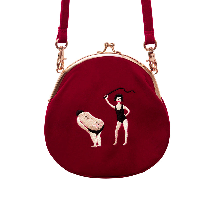 Retro Velvet Dominatrix Purse - Goth Mall