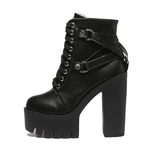 Militant Goth Combat Boots - Goth Mall