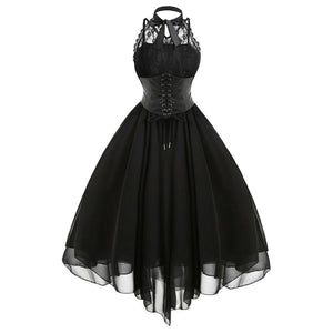 gothic vampire prom wedding dress