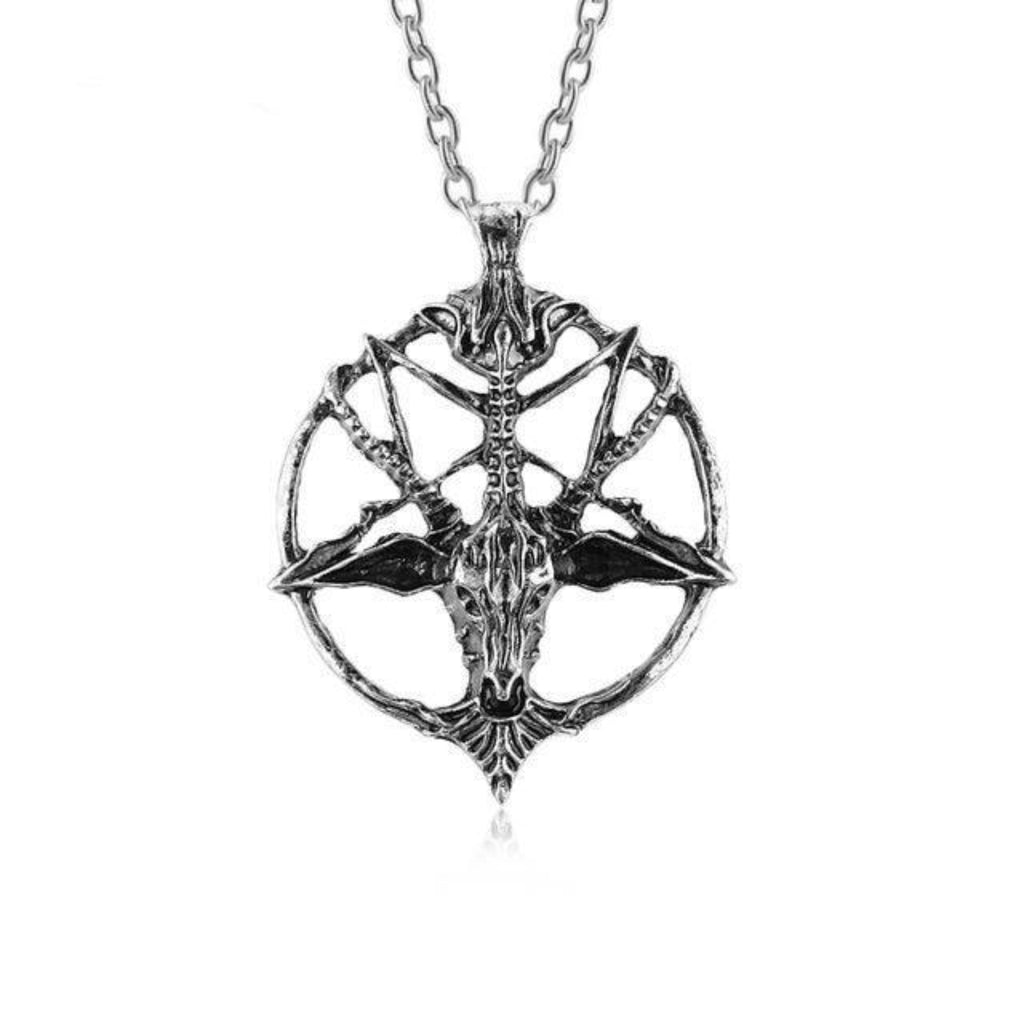 Pentagram Baphomet Necklace - Goth Mall