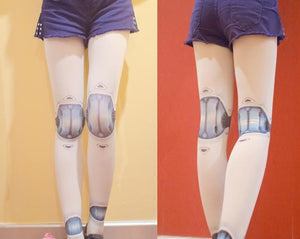Robot Ball Joint Tights - Goth Mall