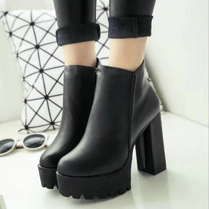 The Darkling Platform Ankle Boots - Goth Mall