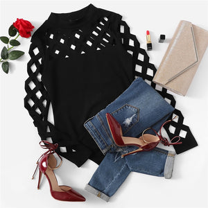 Long Sleeve Cage Bodysuit - Goth Mall