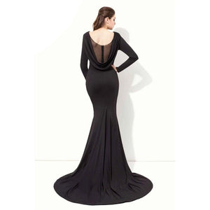Morticia Draped Gown - Goth Mall