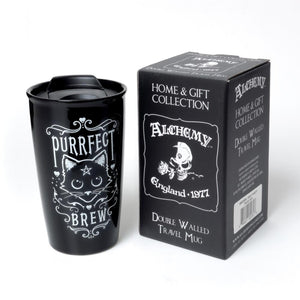Purrfect Brew Travel Mug - Goth Mall