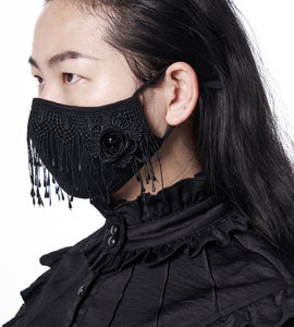 Trad Goth Lace Face Mask - Goth Mall