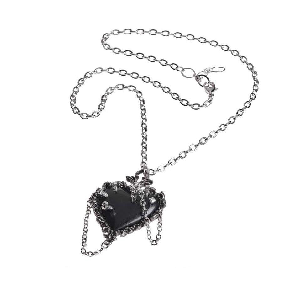 Witches Heart Pendant Necklace - Goth Mall
