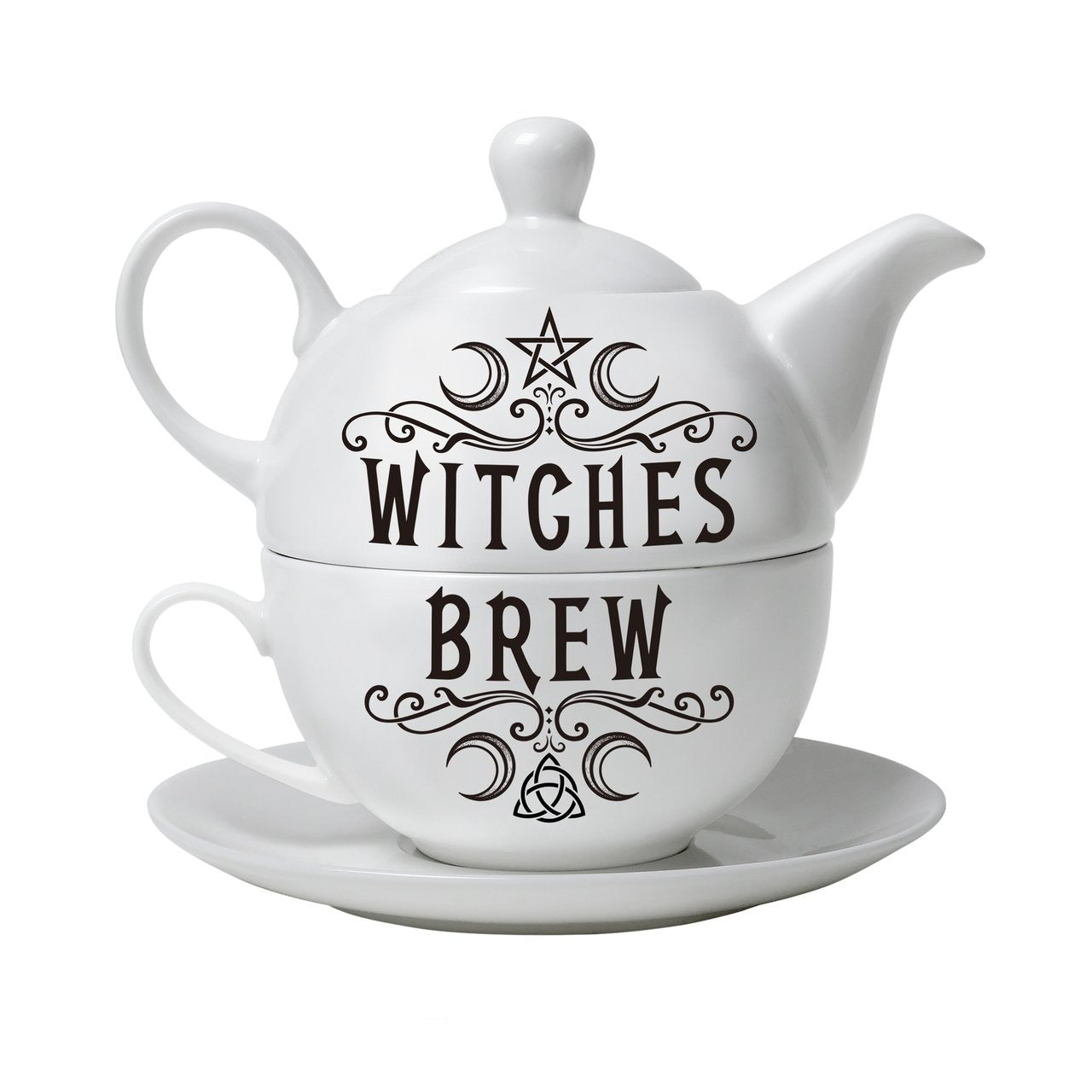 Witches Brew Pentagram Tea Set - Goth Mall