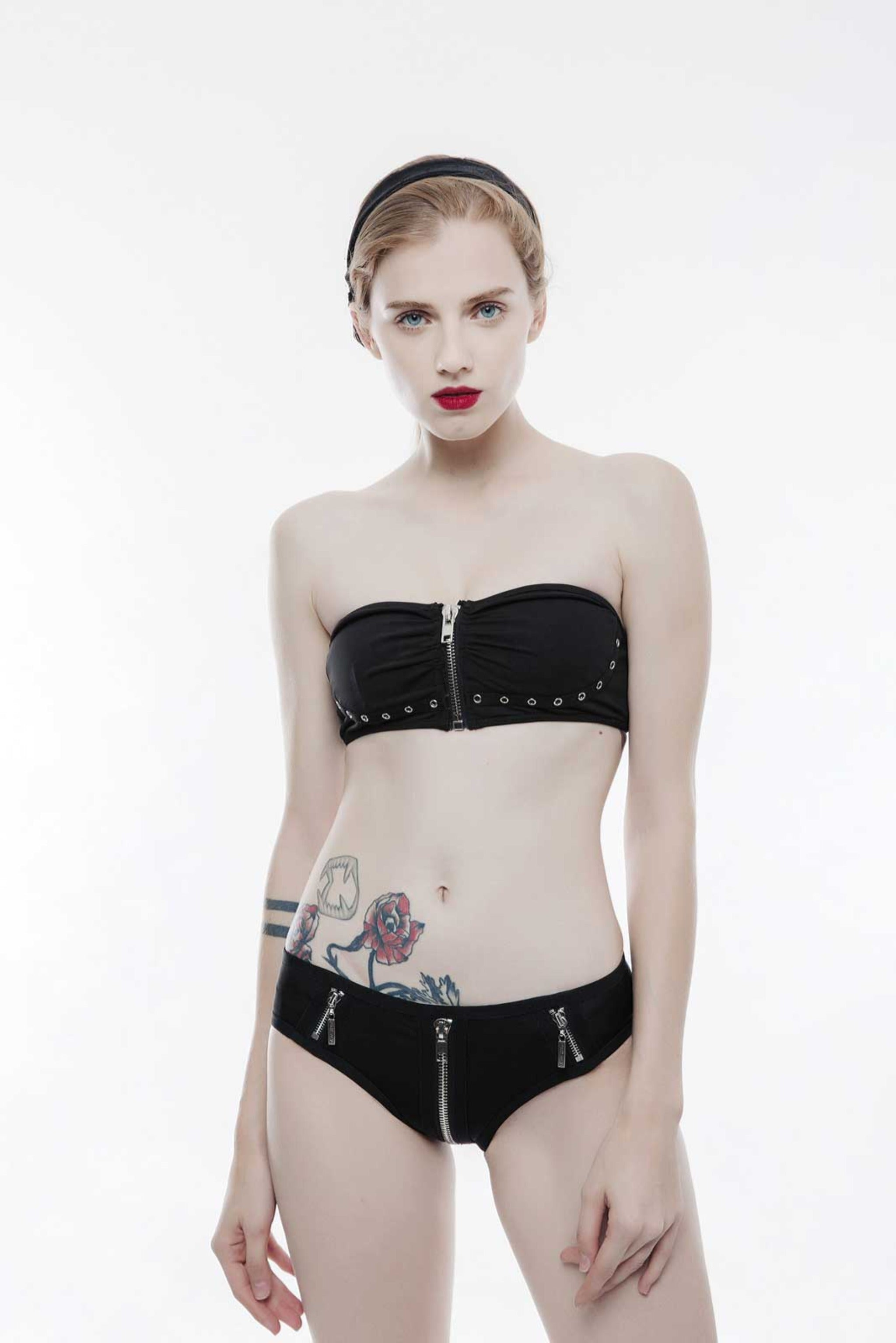 Moon Heart Bralette Bikini Top - Goth Mall