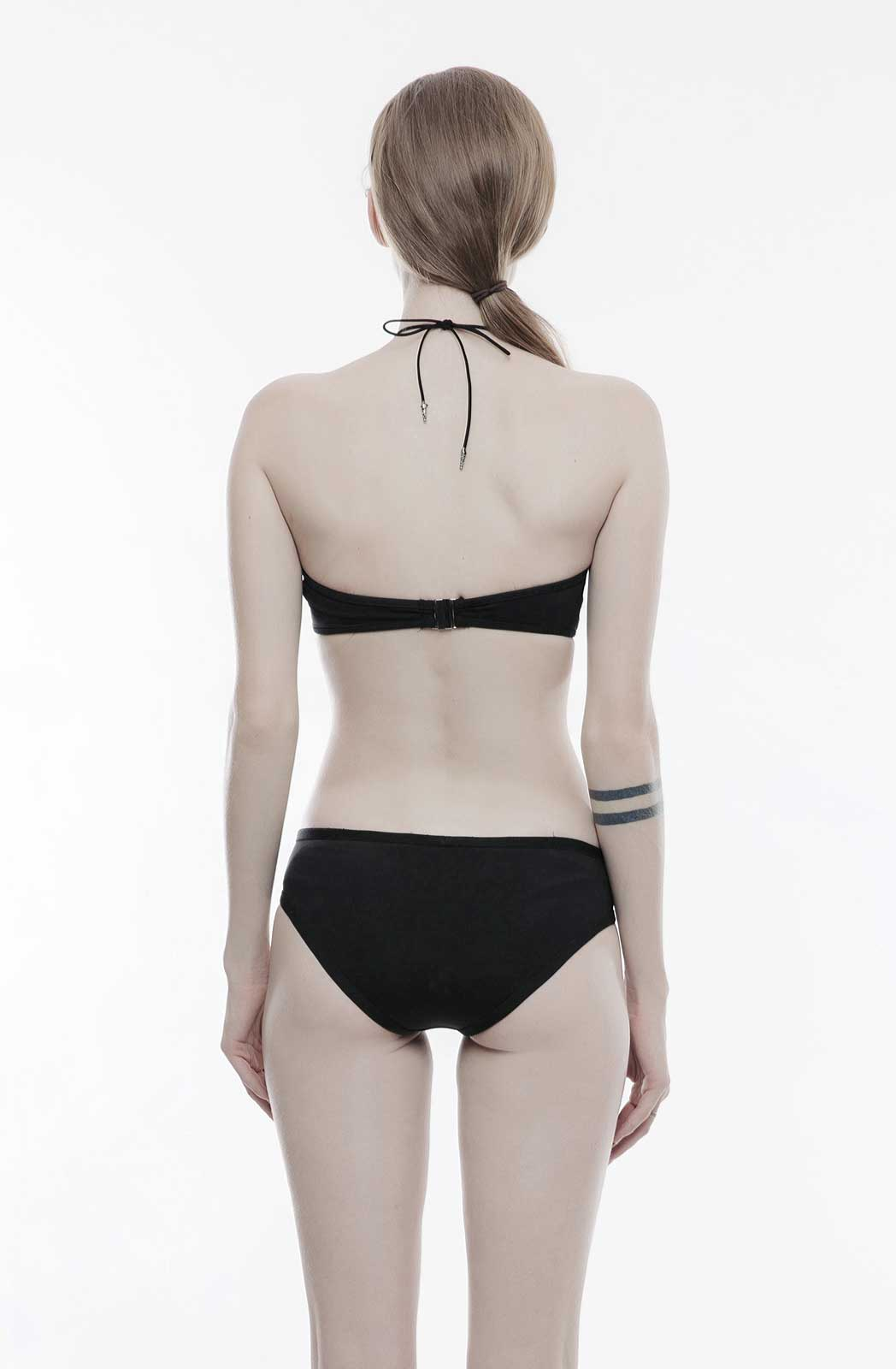 Zip Up Bikini Bottoms - Goth Mall