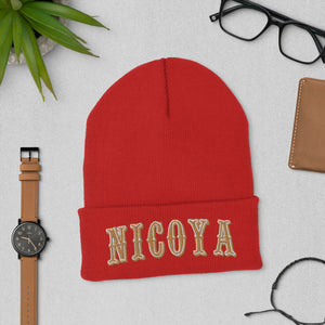 Nicoya Niner | Embroidered Cuffed Beanie