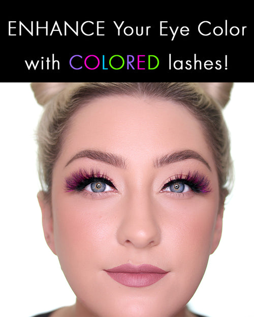 Colored Lashes That Enhance Your Eye Color!