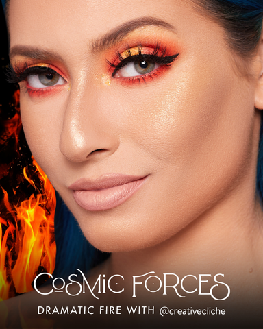 How to get the Dramatic Fire makeup Look from MoxieLash featuring Dolly Magnetic Eyelash Style.