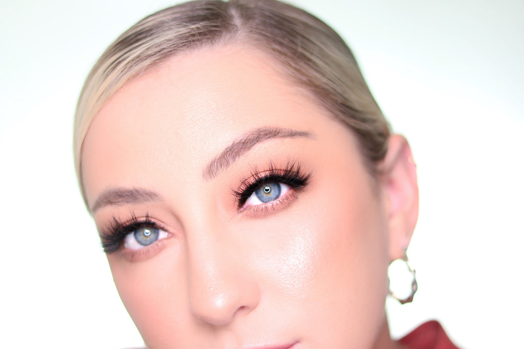 Adding magnetic lash and liner to enhance your makeup look and eye shape.