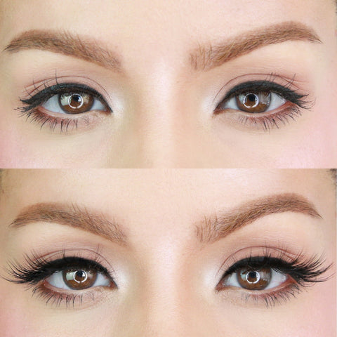 Flirty Lash before and after to make your eyes pop!