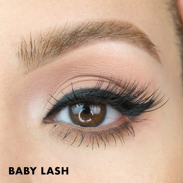 Baby Lash is a small accent lash that lifts and enhances any eye shape.