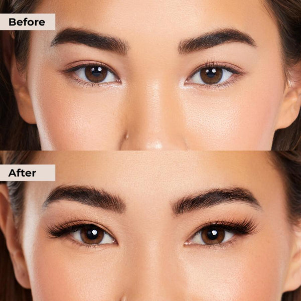 Before and after for hooded eyes.