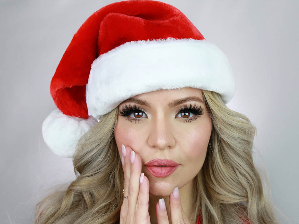 Holiday Makeup look for Christmas featuring beautiful makeup looks.