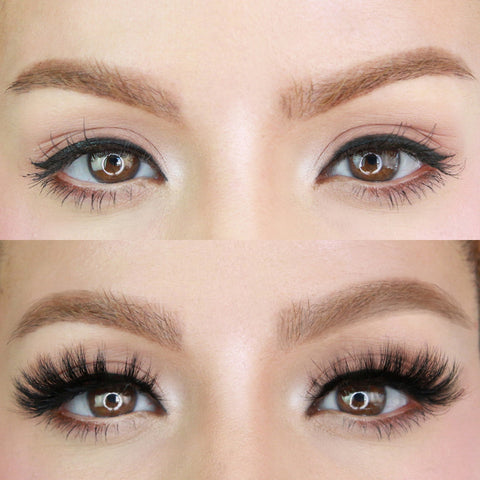 Boujie Lash before and after magnetic lash style for creating the ultimate full and gorgeous lash-look.