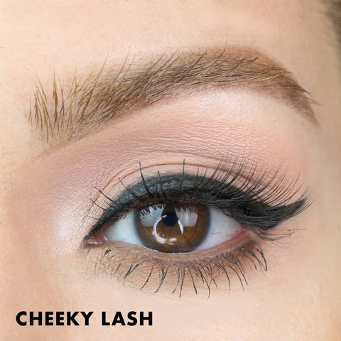 Wearing Cheeky Lash from MoxieLash Accent Kit.