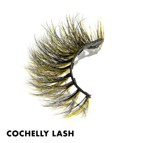 Yellow and Black magnetic false eyelashes are perfect for Halloween!