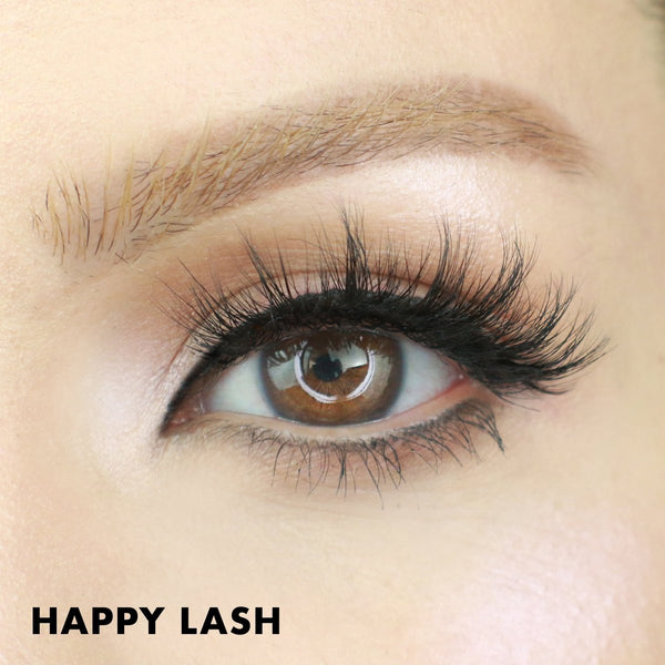 Happy Magnetic Lash gives eyes a lash extension look with full and fluffy styles.