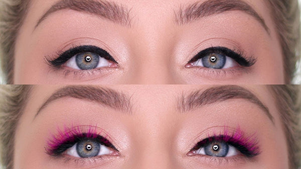 Hippy Magnetic Eyelash in the color pink for Spring magnetic lashes!