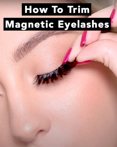How to trim your magnetic eyelashes to fit your eye shape without ruining them.