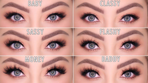 Here is a lash try on of all of our stunning magnetic lash styles