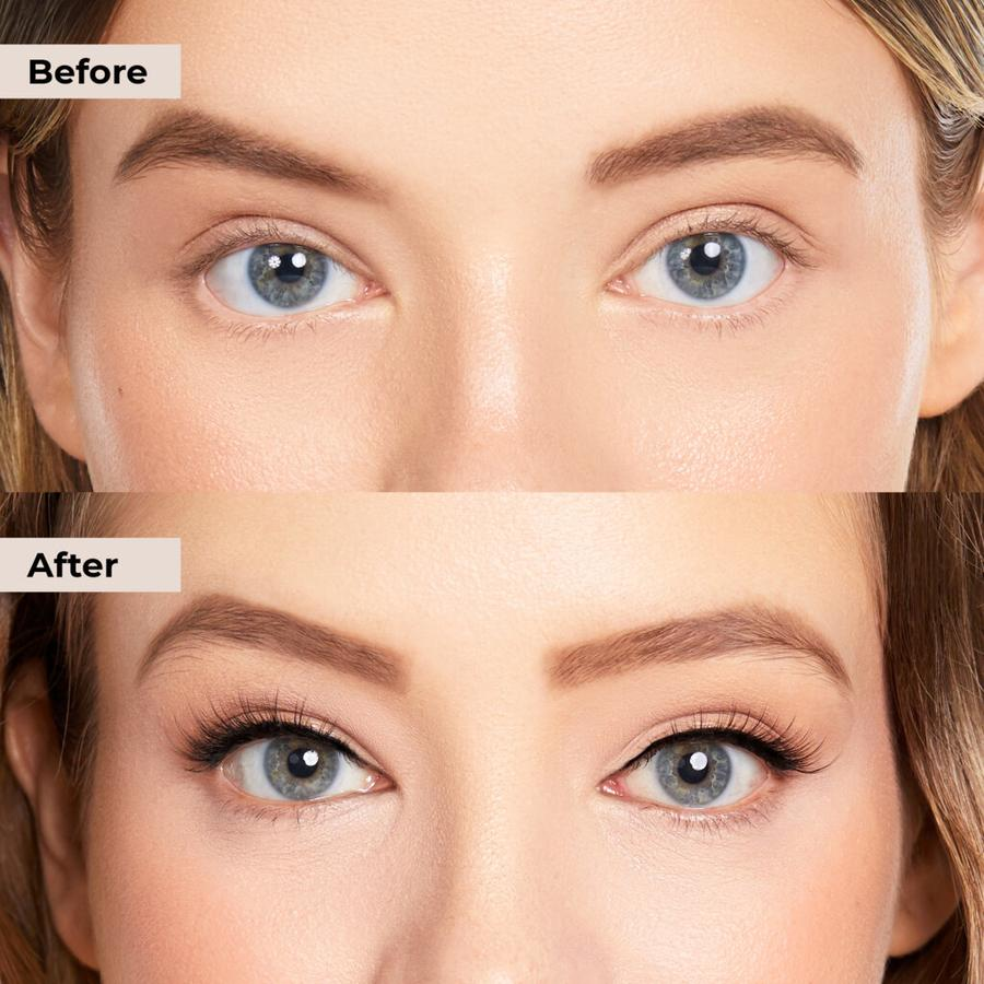 Lovely lashies with clear magnetic eyeliner alternative.